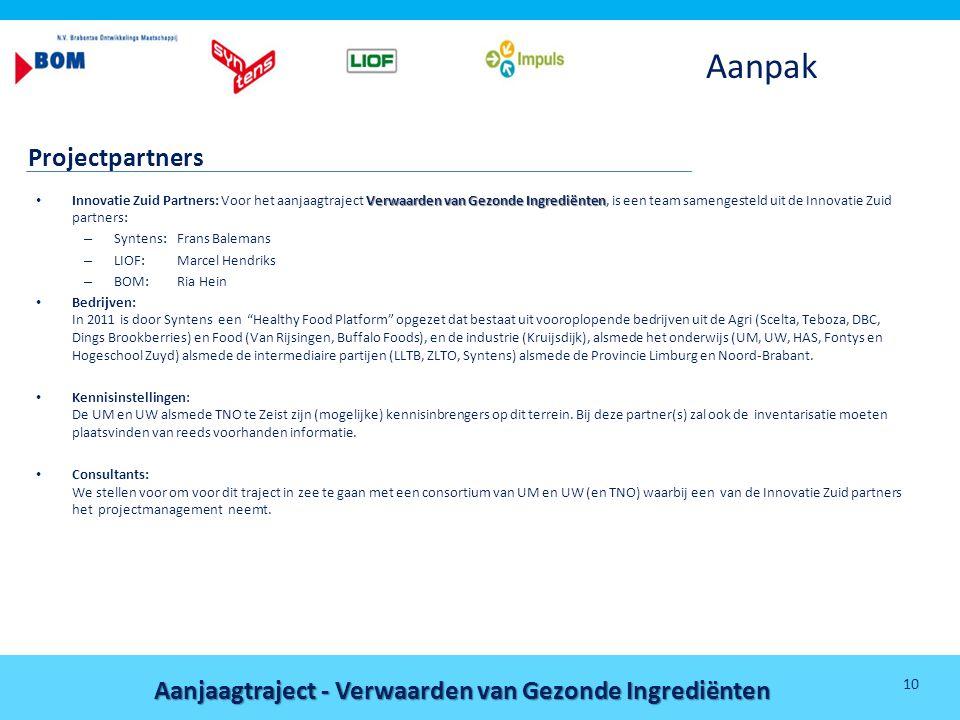 Aanpak Projectpartners