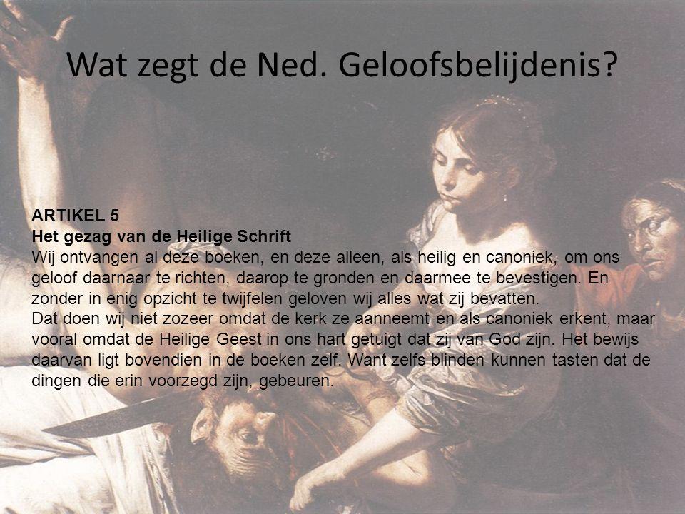 Wat zegt de Ned. Geloofsbelijdenis
