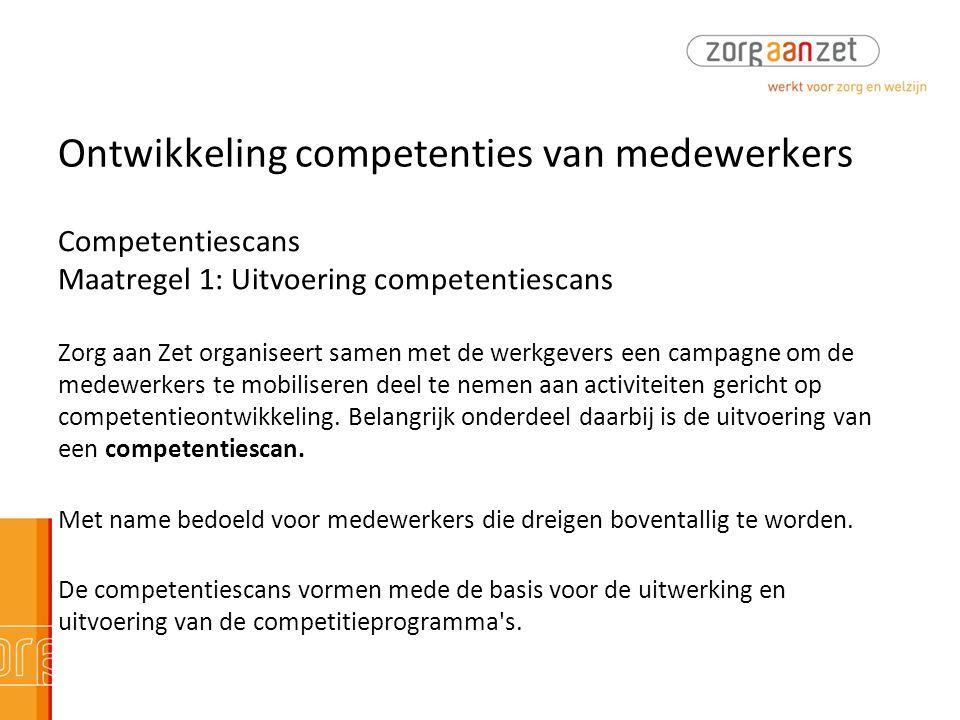 Ontwikkeling competenties van medewerkers