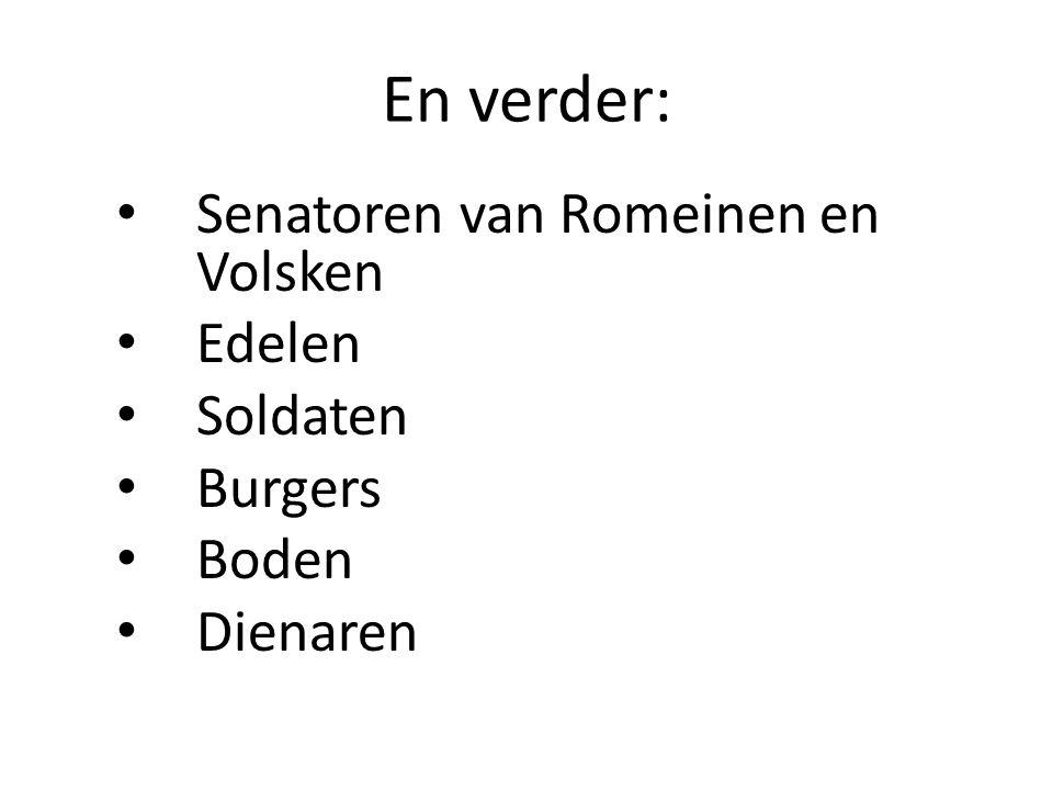 En verder: Senatoren van Romeinen en Volsken Edelen Soldaten Burgers