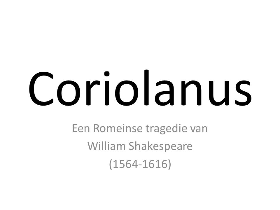 Een Romeinse tragedie van William Shakespeare ( )