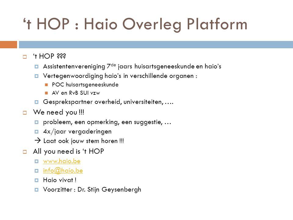 't HOP : Haio Overleg Platform