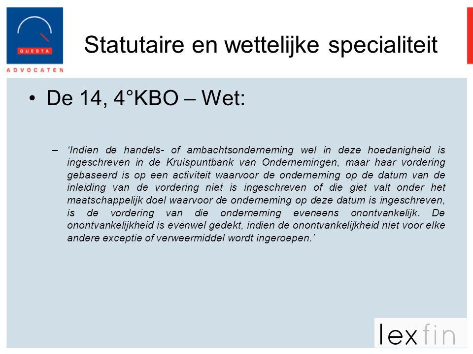 Statutaire en wettelijke specialiteit