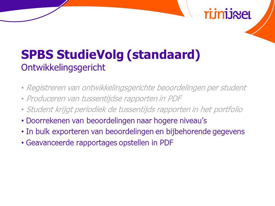SPBS StudieVolg (standaard) Ontwikkelingsgericht