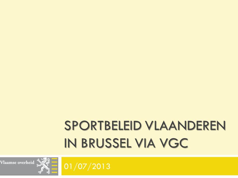 Sportbeleid Vlaanderen in Brussel via VGC