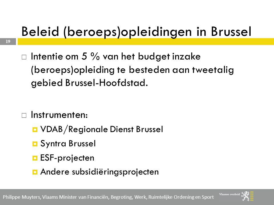 Beleid (beroeps)opleidingen in Brussel