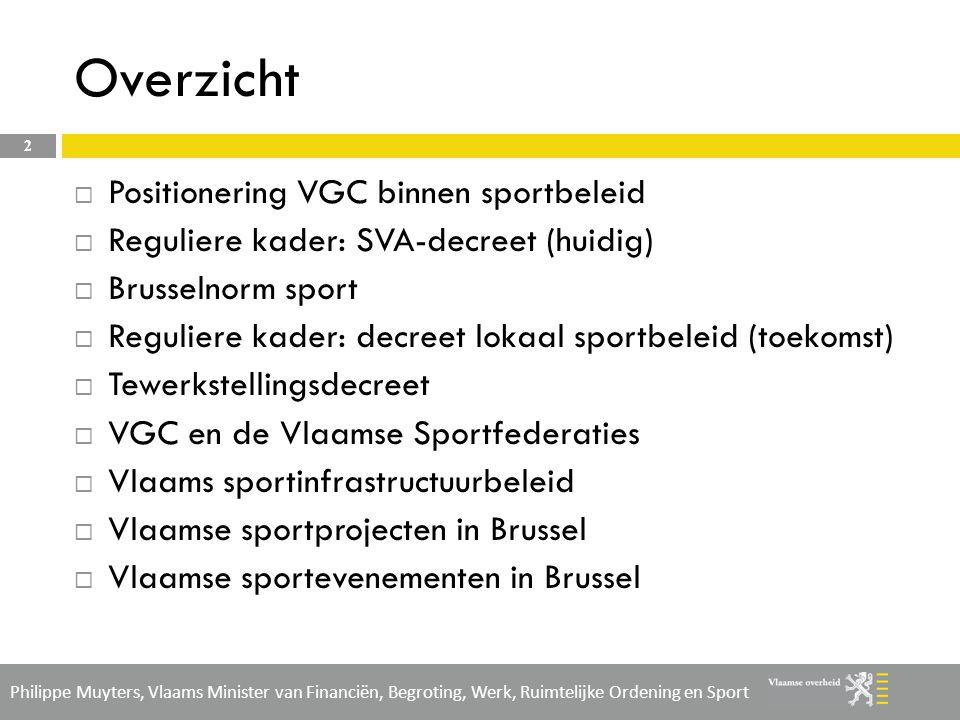 Overzicht Positionering VGC binnen sportbeleid