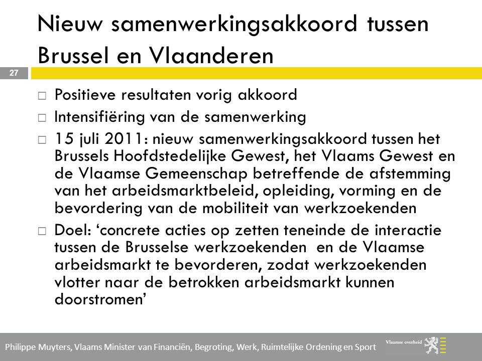 Nieuw samenwerkingsakkoord tussen Brussel en Vlaanderen