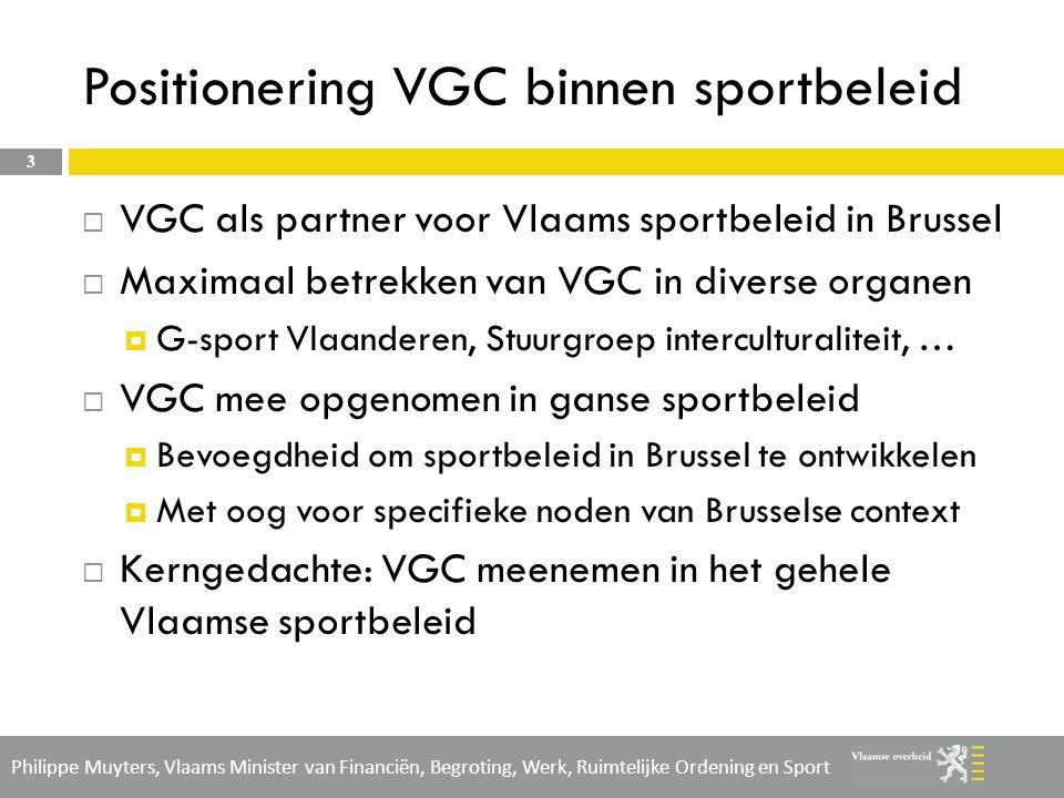 Positionering VGC binnen sportbeleid