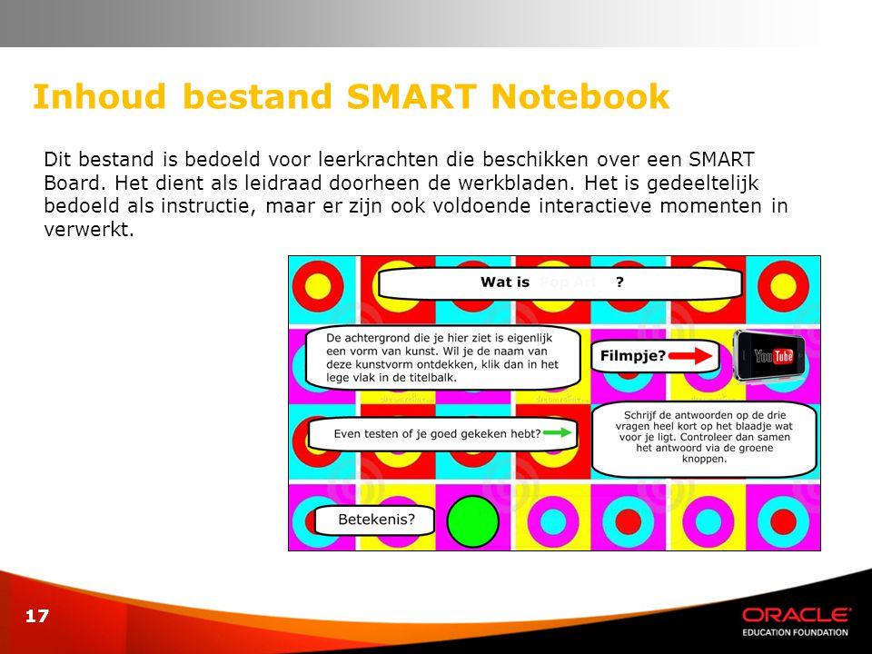 Inhoud bestand SMART Notebook