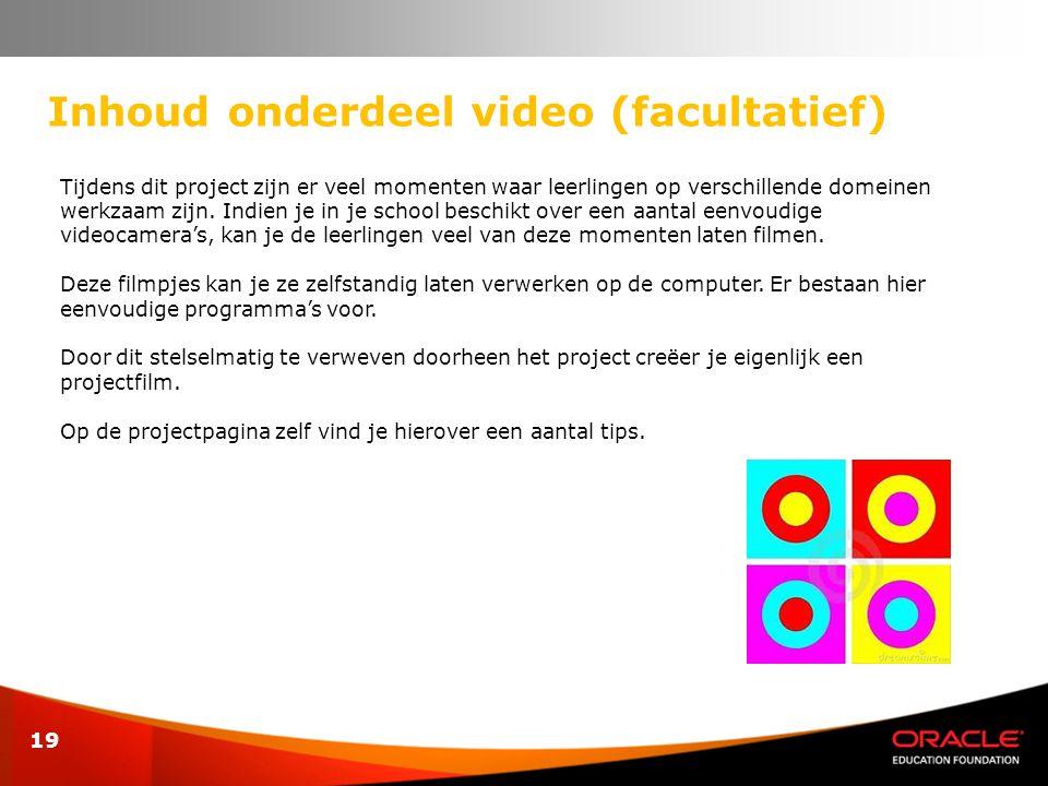 Inhoud onderdeel video (facultatief)