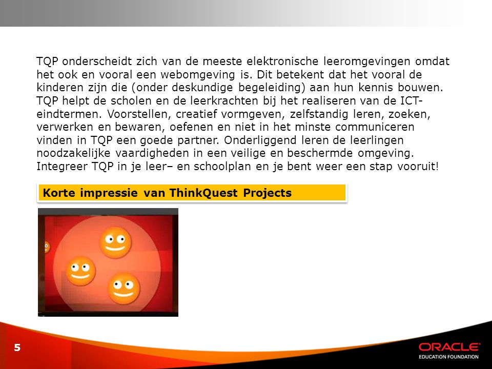 Korte impressie van ThinkQuest Projects