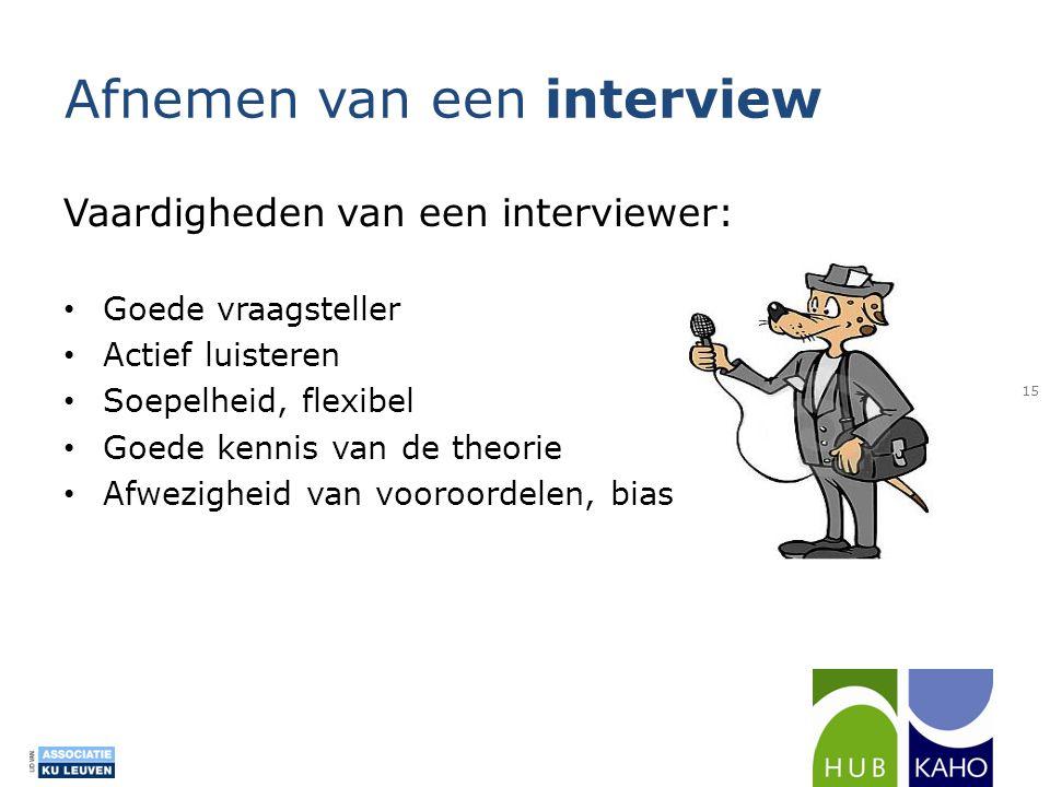 Afnemen van een interview