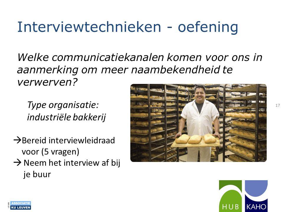 Interviewtechnieken - oefening