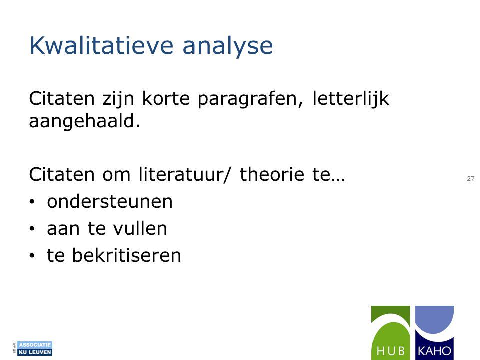 Citaten Nederlandse Literatuur : Bachelorproef workshop afnemen vragenlijst voor