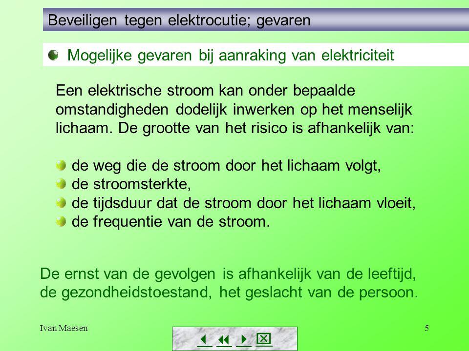 Beveiligen tegen elektrocutie; gevaren