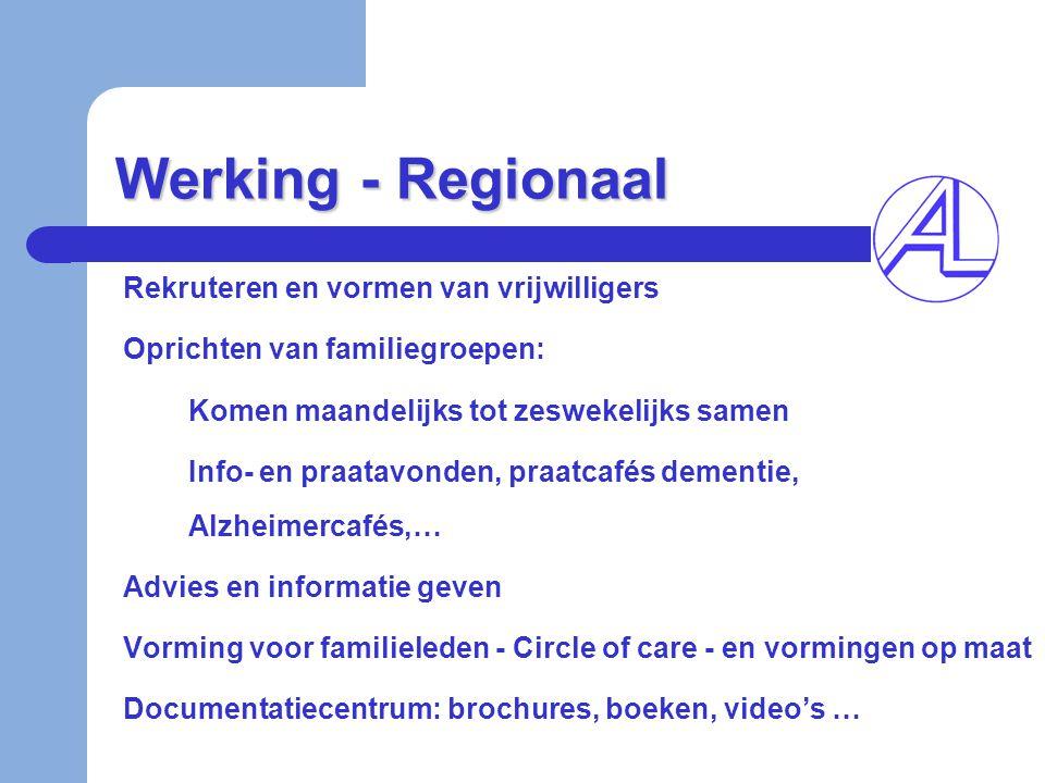 Werking - Regionaal Rekruteren en vormen van vrijwilligers