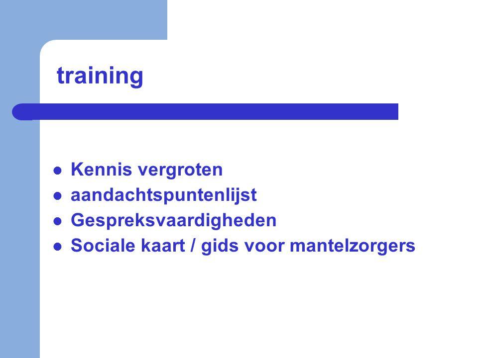 training Kennis vergroten aandachtspuntenlijst Gespreksvaardigheden