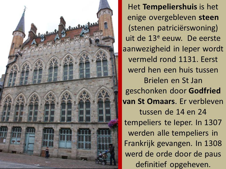 Het Tempeliershuis is het enige overgebleven steen (stenen patriciërswoning) uit de 13e eeuw.