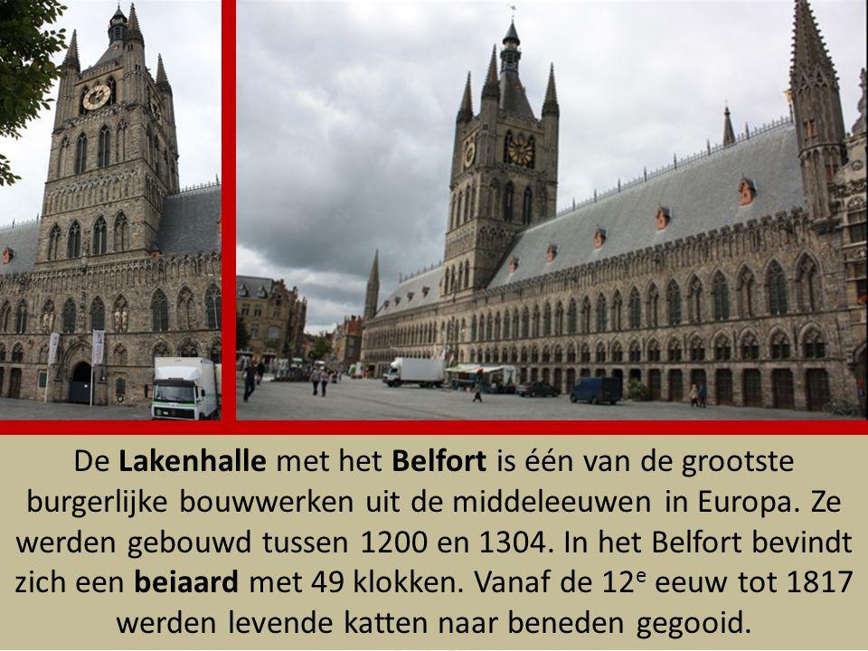 De Lakenhalle met het Belfort is één van de grootste burgerlijke bouwwerken uit de middeleeuwen in Europa.