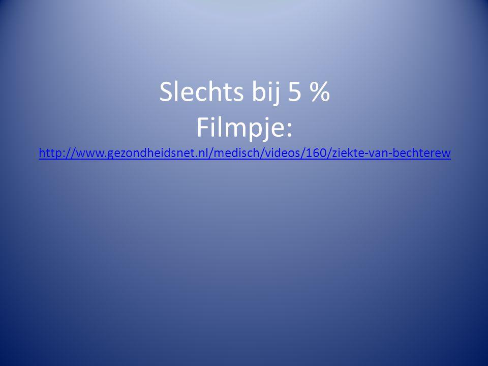 Slechts bij 5 % Filmpje: http://www. gezondheidsnet