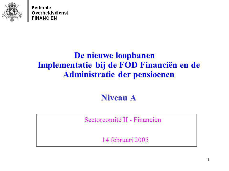 De nieuwe loopbanen Implementatie bij de FOD Financiën en de Administratie der pensioenen Niveau A