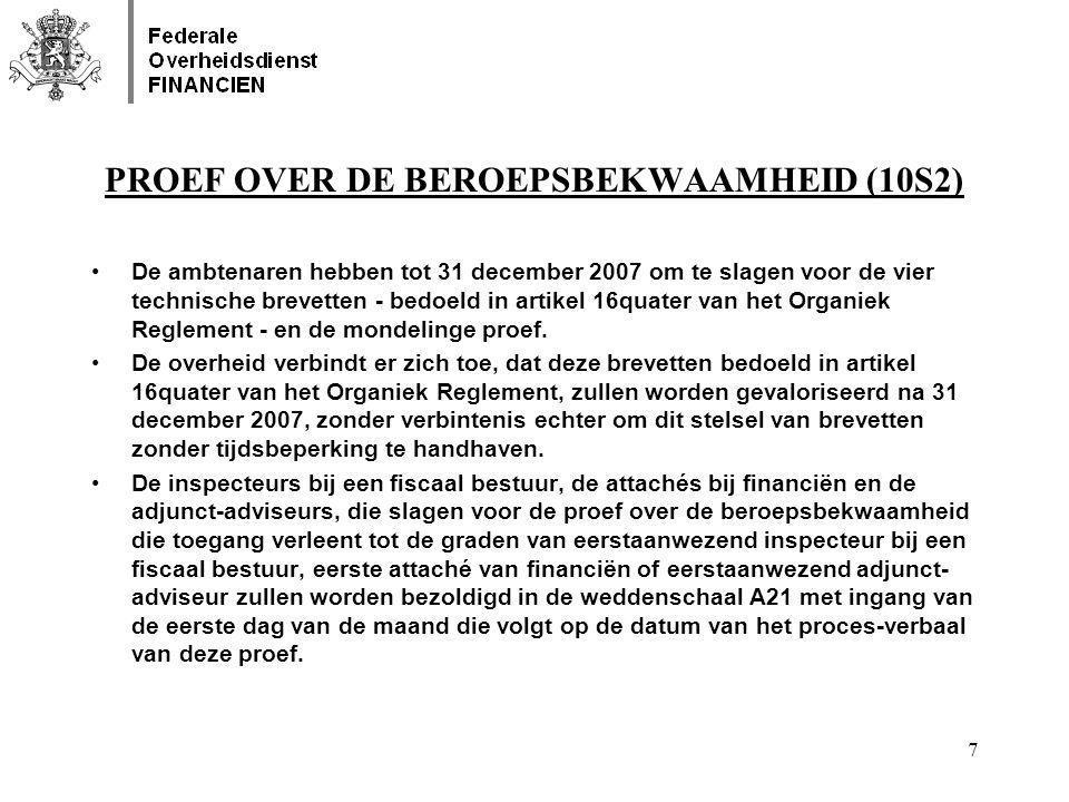 PROEF OVER DE BEROEPSBEKWAAMHEID (10S2)