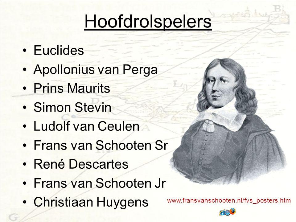 Hoofdrolspelers Euclides Apollonius van Perga Prins Maurits