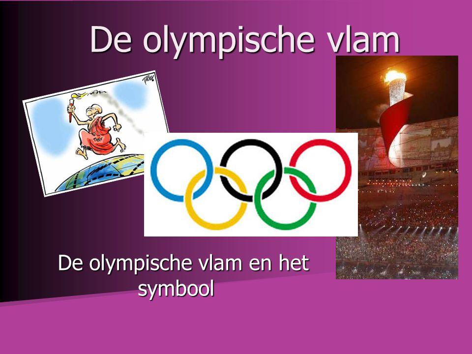 De olympische vlam en het symbool