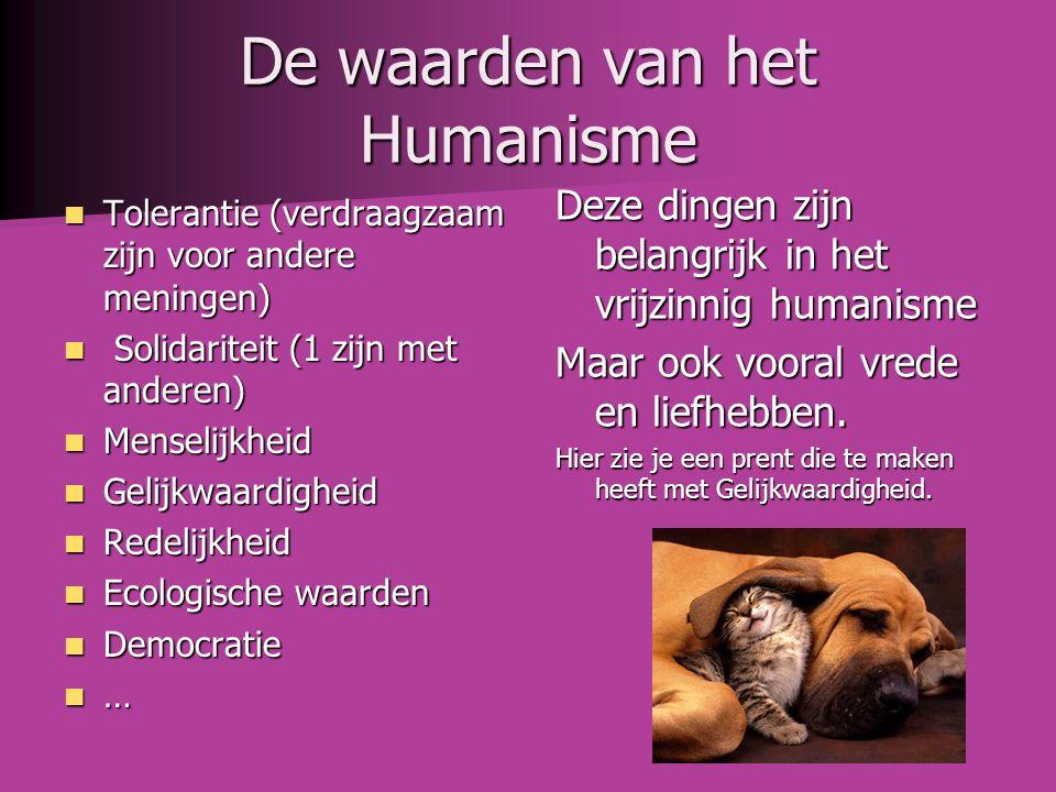 De waarden van het Humanisme