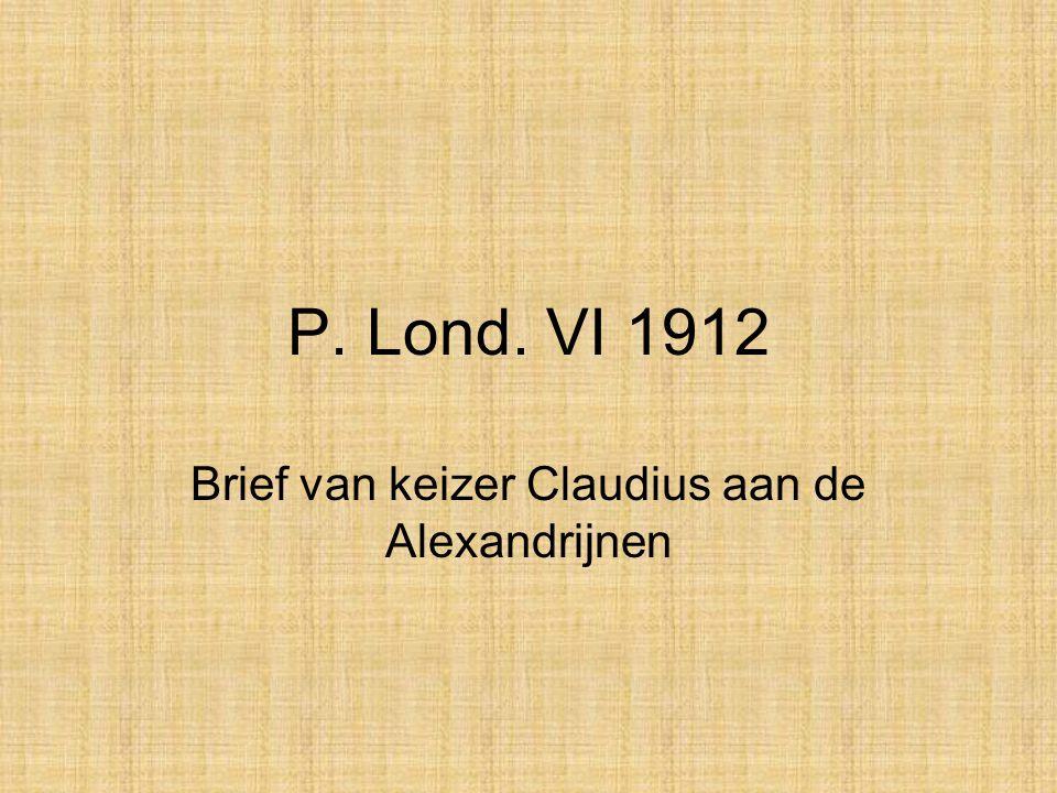 Brief van keizer Claudius aan de Alexandrijnen
