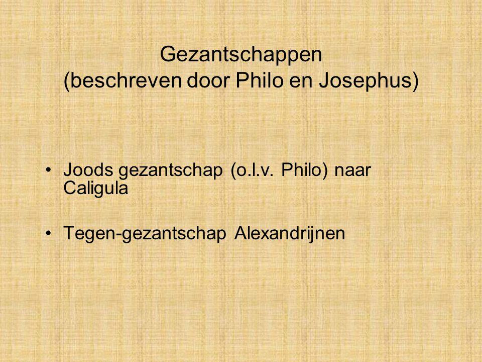 Gezantschappen (beschreven door Philo en Josephus)