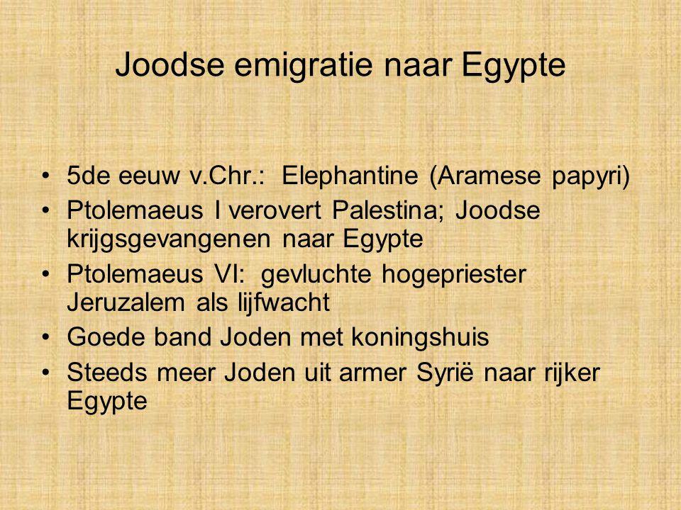 Joodse emigratie naar Egypte