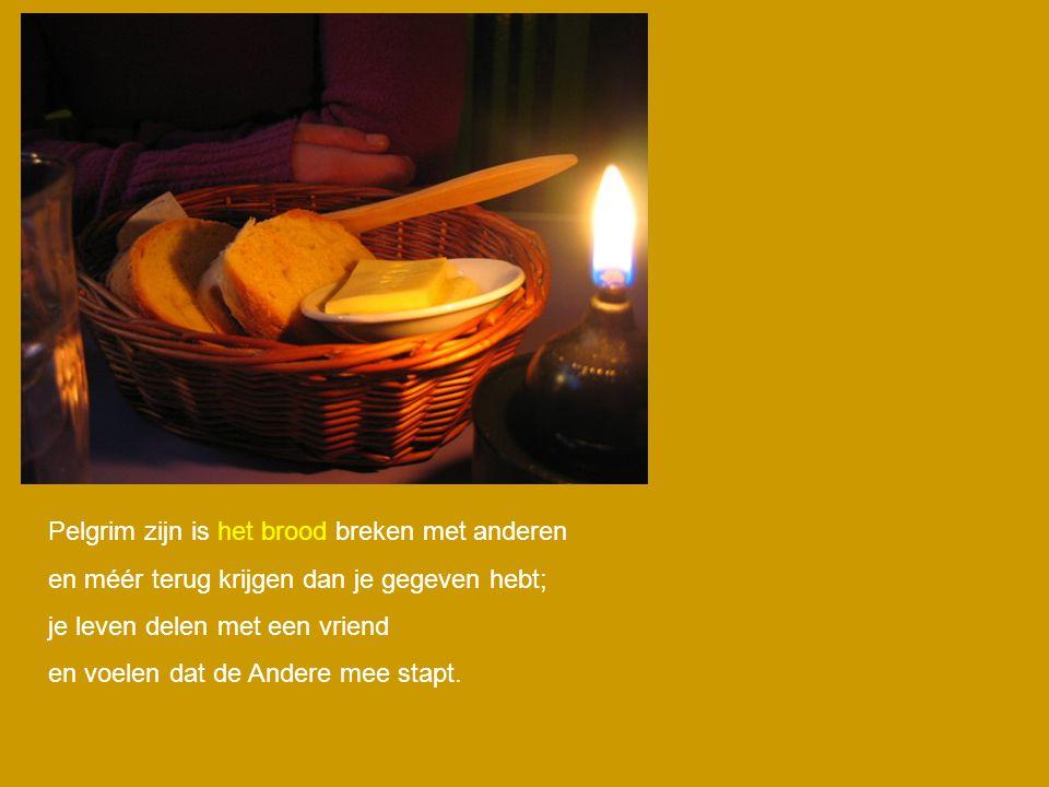 Pelgrim zijn is het brood breken met anderen