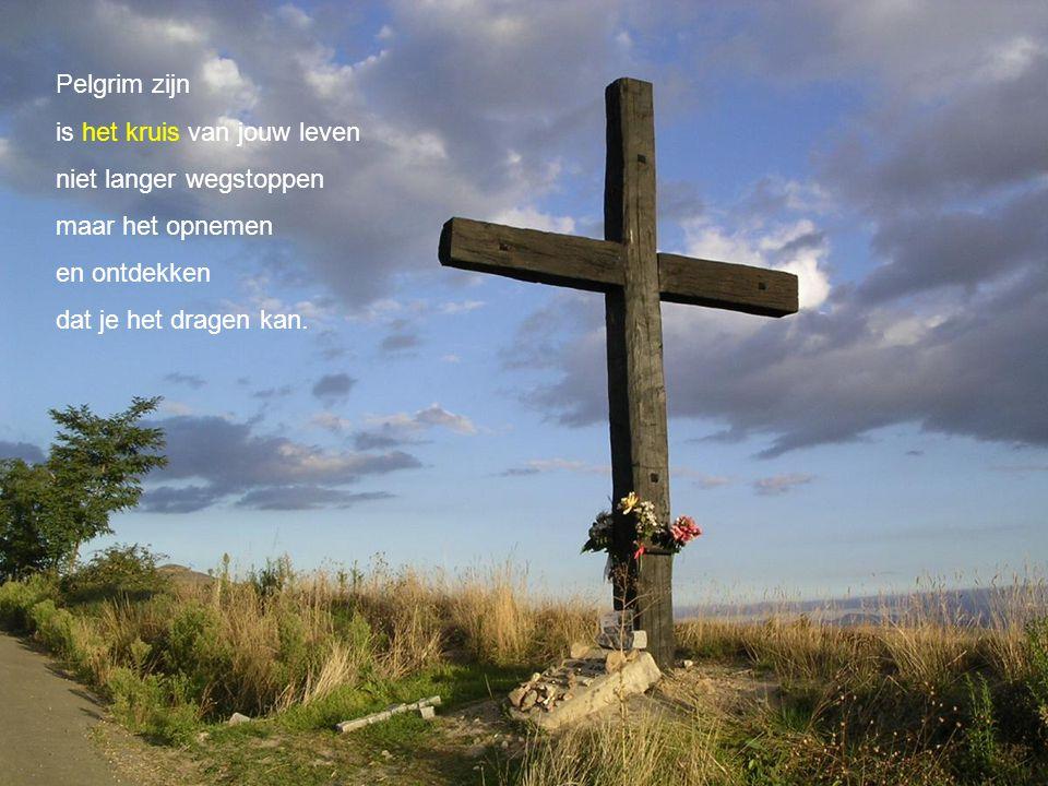 Pelgrim zijn is het kruis van jouw leven. niet langer wegstoppen. maar het opnemen. en ontdekken.