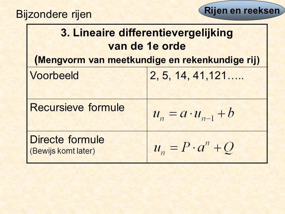 Directe formule (Bewijs komt later)