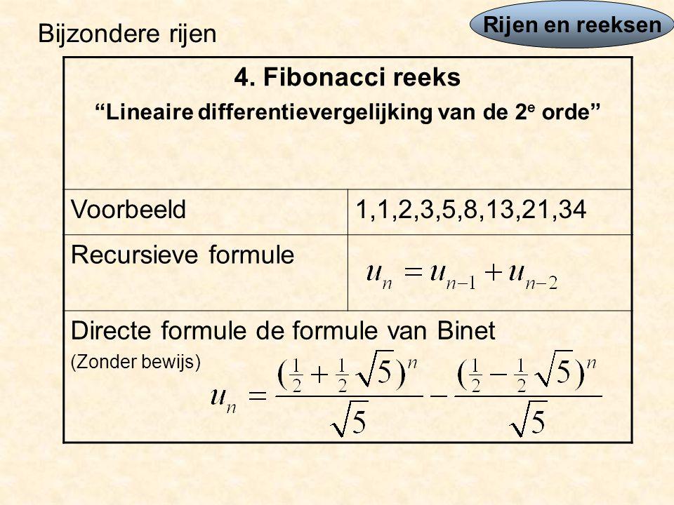Lineaire differentievergelijking van de 2e orde