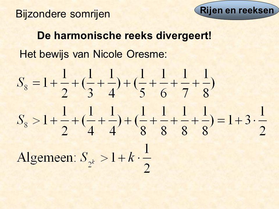 De harmonische reeks divergeert!