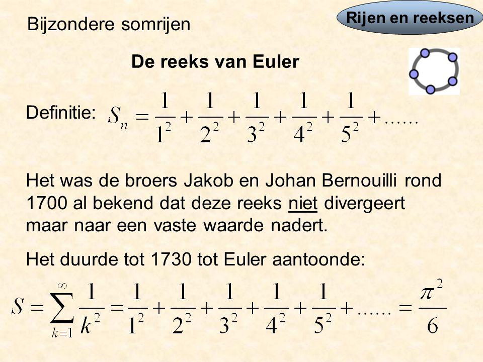 Het duurde tot 1730 tot Euler aantoonde:
