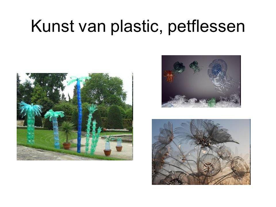 Kunst van plastic, petflessen