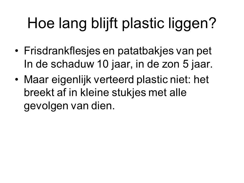 Hoe lang blijft plastic liggen