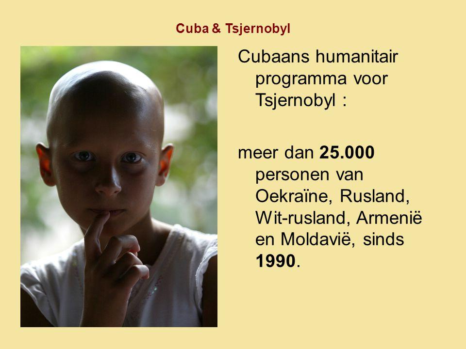 Cubaans humanitair programma voor Tsjernobyl :