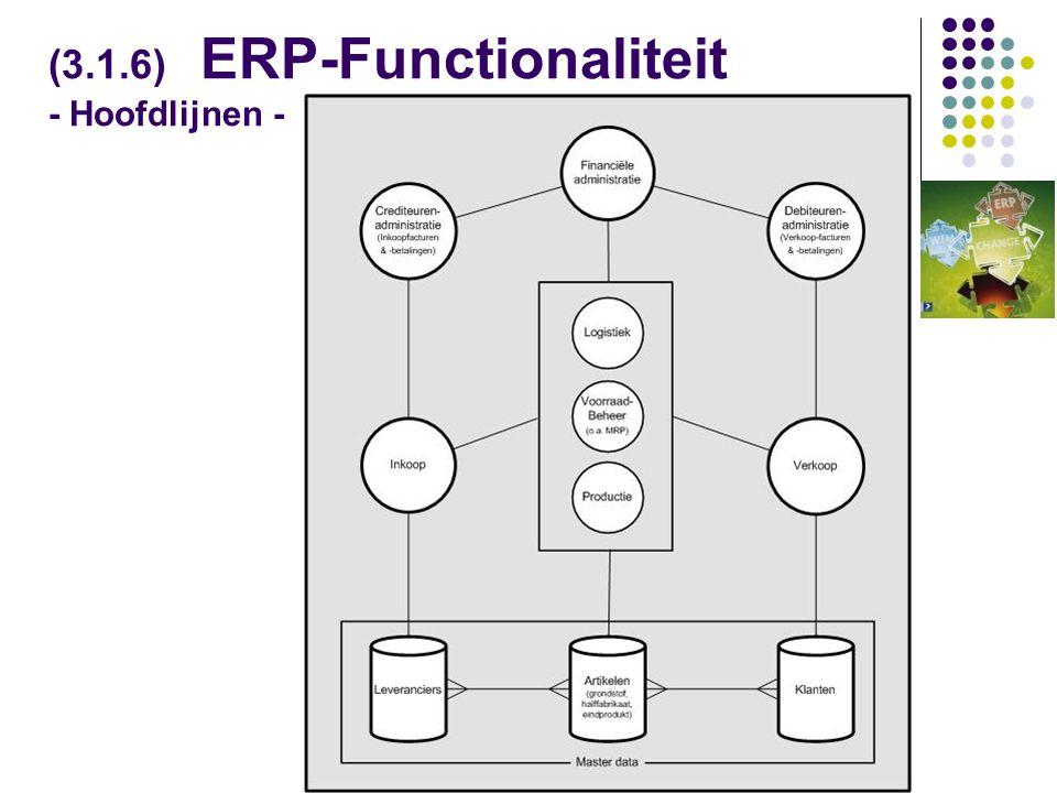 (3.1.6) ERP-Functionaliteit - Hoofdlijnen -