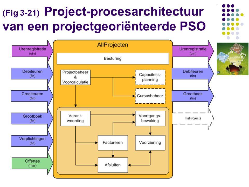 (Fig 3-21) Project-procesarchitectuur van een projectgeoriënteerde PSO