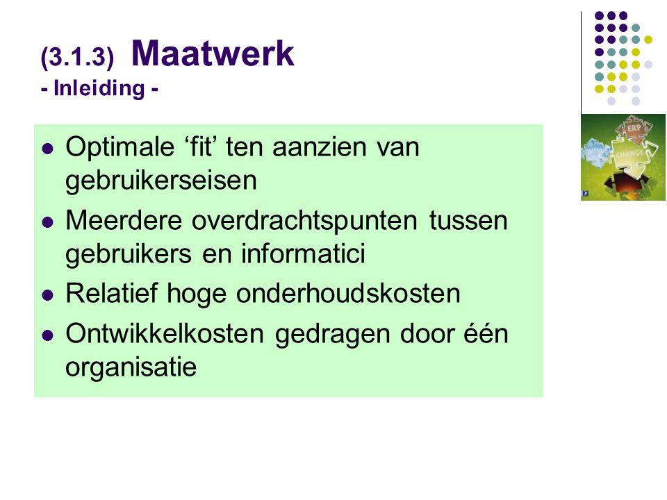 (3.1.3) Maatwerk - Inleiding -