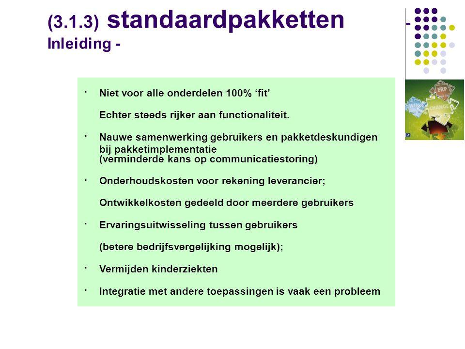 (3.1.3) standaardpakketten - Inleiding -