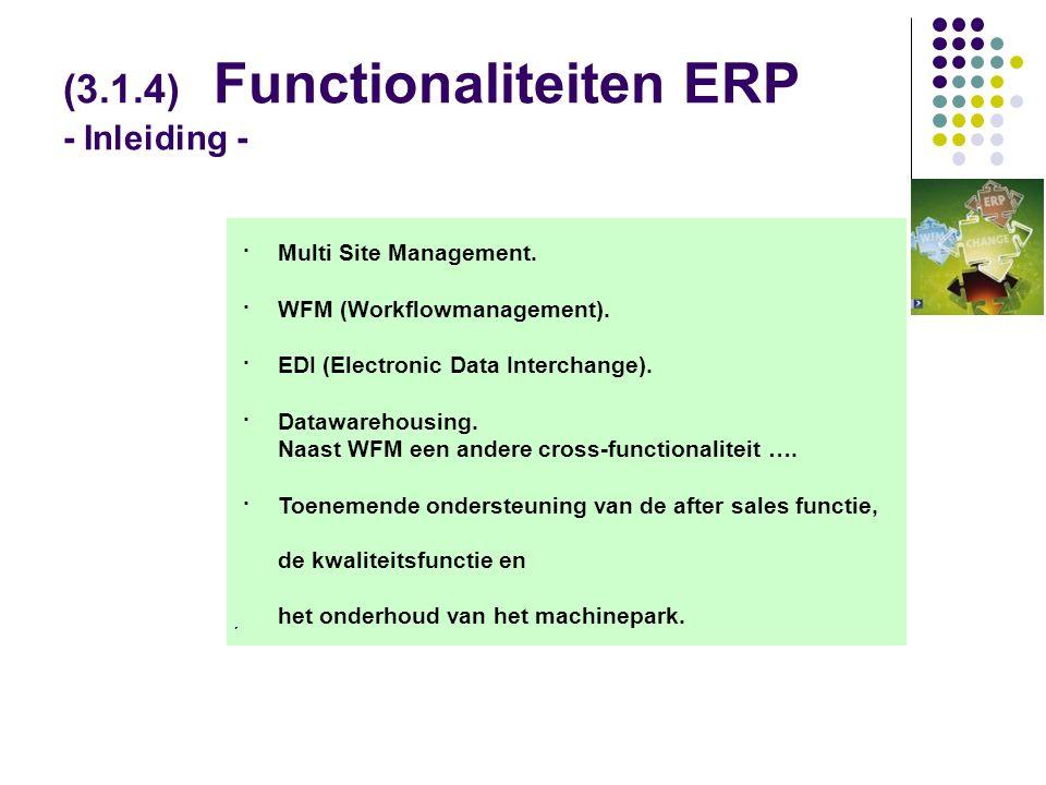 (3.1.4) Functionaliteiten ERP - Inleiding -