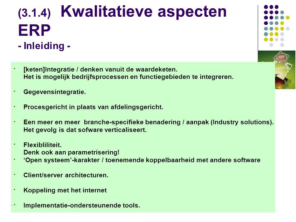 (3.1.4) Kwalitatieve aspecten ERP - Inleiding -