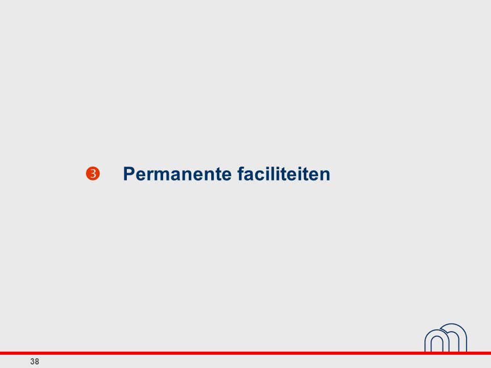  Permanente faciliteiten