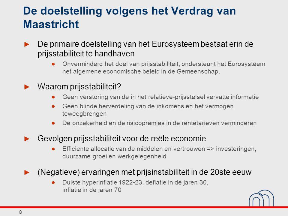De doelstelling volgens het Verdrag van Maastricht